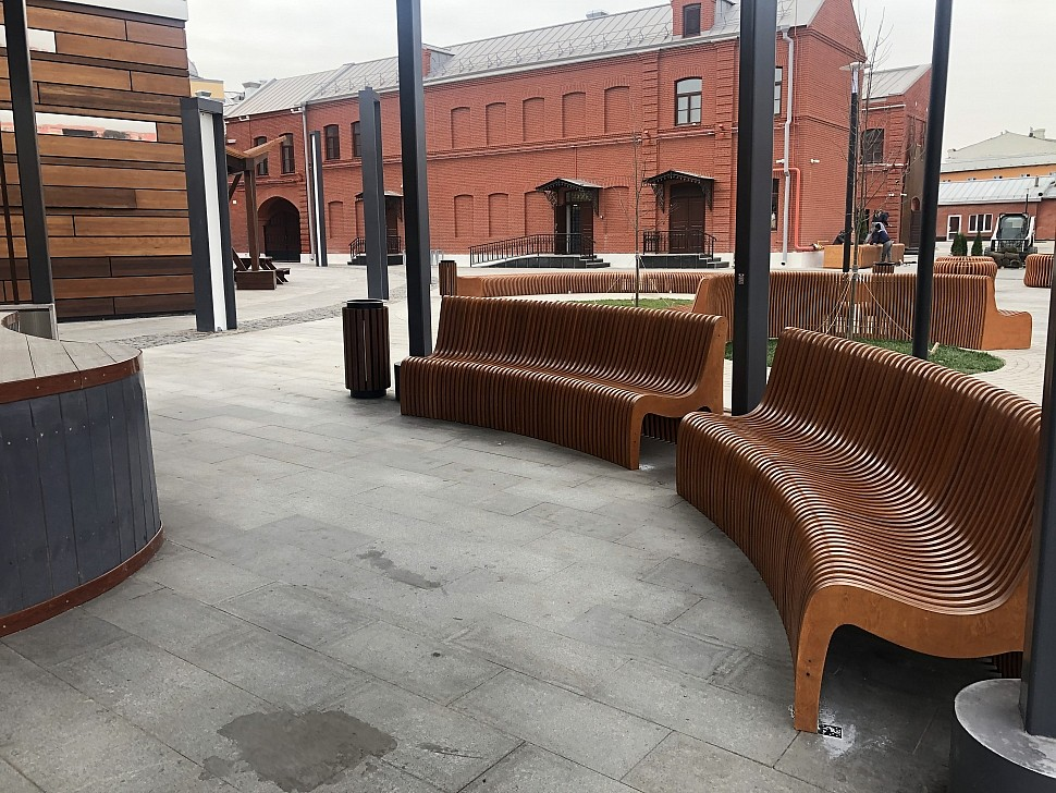 Параметрическая уличная мебель (МАФ 12)